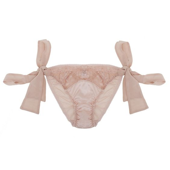 Fleur Of England Naked Bow Brief ($91) ❤ liked on Polyvore