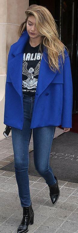 Gigi Hadid: jeans – Parker  shirt – Local Authority