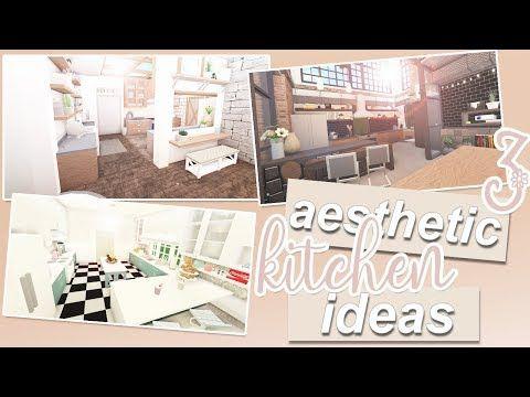 3 Aesthetic Kitchen Ideas Roblox Bloxburg Youtube Dark Blue Kitchens Image House Budget Kitchen Remodel