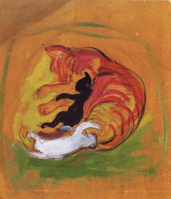 Chatte et ses petits  Franz Marc (1880-1916)