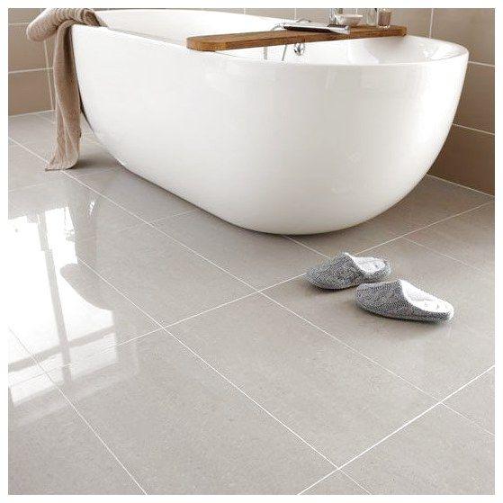 Regal Porcelain From Topps Tiles Bathroom Flooring Ideas 10 Best Housetohome Co Uk Floorin Bathroom Flooring Porcelain Flooring Bathroom Floor Coverings