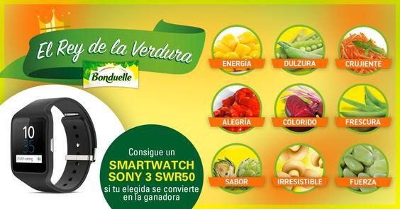 Tú decides si tu verdura Bonduelle favorita se convierte en la afortunada ganadora. ¡Sorteamos un SmartWatch Sony 3 SWR50 entre todos los que voten por la verdura ganadora!