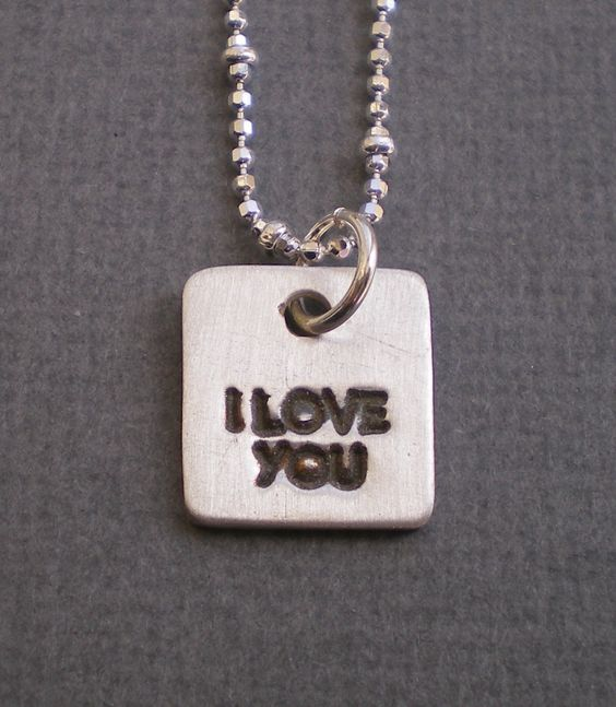 Those 3 little words. Another in my line of pendant charms. $32