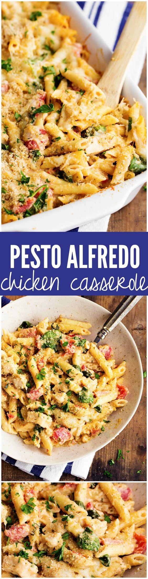 Pesto Alfredo Chicken Casserole | Recipe | Pesto Chicken, Pesto and ...