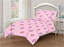 Tabitha Dot Floral Twin Microfiber Kids Comforter Set #hiddentreasuresdecorandmore