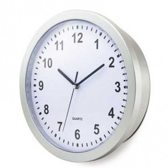 """Kitchen Wall Clock 10"""" White Hidden Compartment Home Security Clocks safe Hide"""