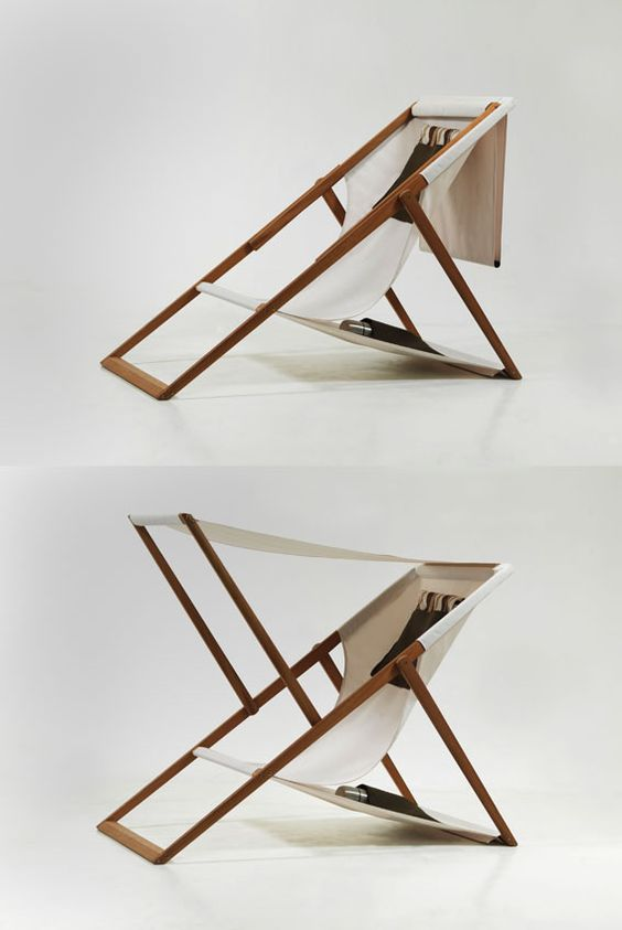 Mind you this is more of a vacation piece than something for my habitat, still I can definitely see it on my balcony or in a secluded spot of my garden. This is ''XZ'', at first glance classical, deck-chair yet a highly self-sufficient piece of beach furniture. A practical piece that challenges the settled typology and builds upon the function of the archetypal deck-chair. (http://www.designtourism.org/XZ)