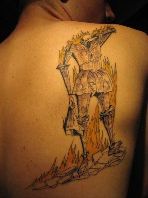 Cover art from Fahrenheit 451 by Ray Bradbury