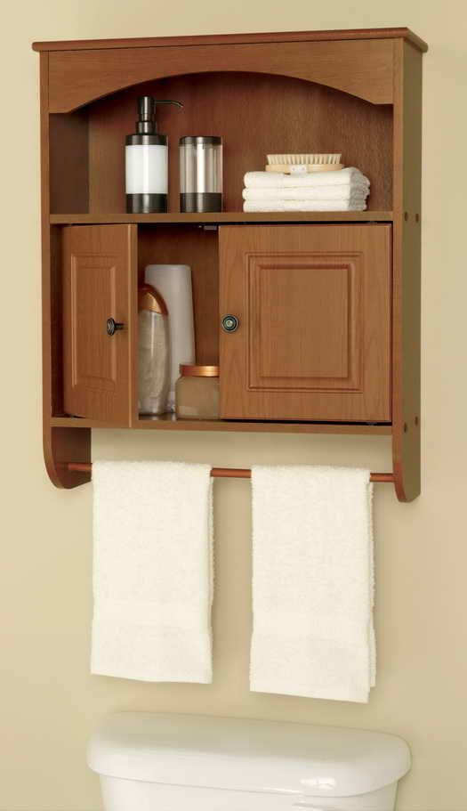 Wall Mounted Bathroom Cabinets With, Bathroom Cabinet With Towel Rack