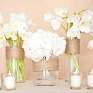 Rustic white arrangements