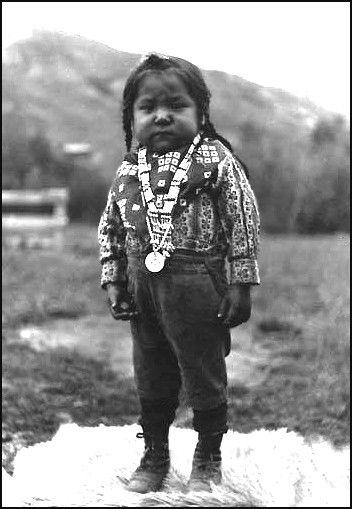 Nez Perce boy named Elijah Williams, also known as Charging Hog, Colville Indian Reservation, Washington, ca. 1903.
