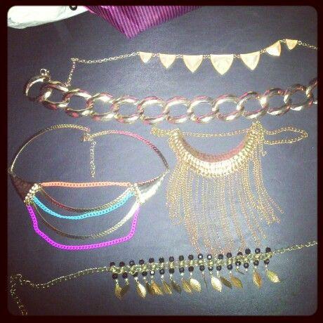 Algunos de mis collares
