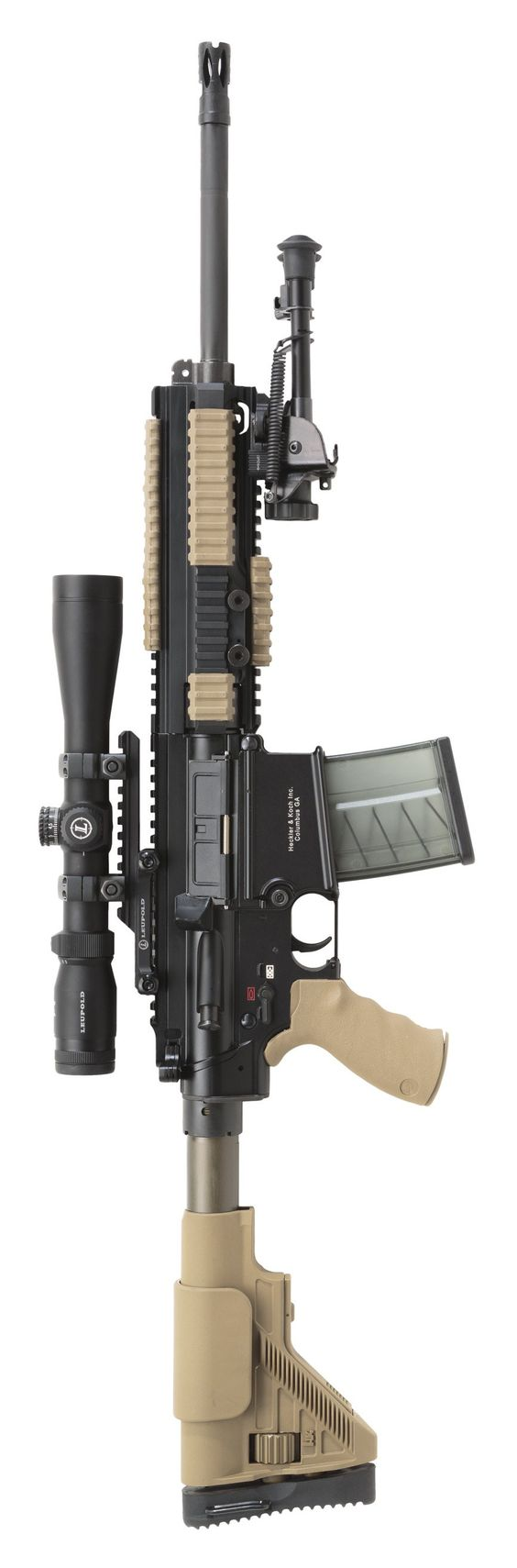 Heckler Koch HK MR762 rifle. I would SO love to have a 7.62 x 51mm semi-auto rifle... maybe one day, I'll build an AR-10 :-)
