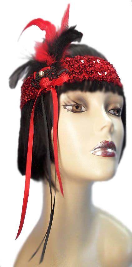 Ruby Flash Roaring 20's Flapper Gatsby by JenkittysCloset on Etsy, $20.00