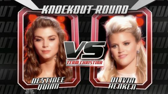 "Destinee Quinn sang ""See You Again"" and Olivia Henken sang ""You're No Good"" on The Voice Knockout Rounds for Team Christina Aguilera. See recap of tonight's 'Knockout Rounds' part 1 here. Judges: Christina Aguilera: Destinee, you operate on emotion. Olivia, we've all been guilty of letting nerves take over. Adam Levine: It's strong on both […]"