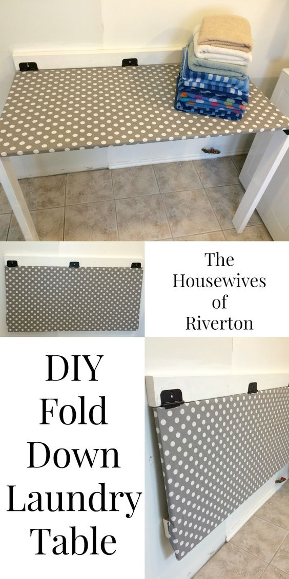 DIY Fold Down Laundry Table #SienteGlade #Ad @Glade   www.housewivesofriverton.com.  I love this idea!!!