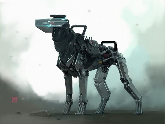 robot dogs fun art - photo #7