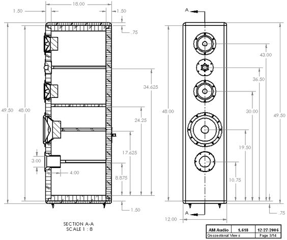 Diy Hi Vi Mtmw 3 Way Tower Enclosure Plan Diy Dreams Of Spl 600 Pins Pinterest Tower