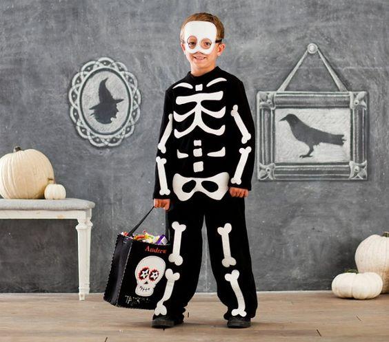 Skeleton bone costume for kids.