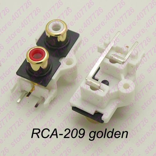 2pcs Pack Pcb Mount 1 Position Stereo Audio Video Jack Rca Female Connector Two Hole W R Rca 209 Golden Review Usb Flash Drive Audio Video Usb