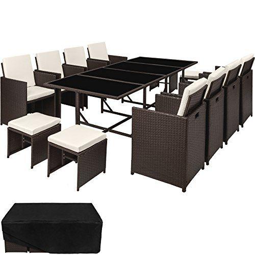 Tectake Conjunto Muebles De Jardin En Ratan Sintetico Com Https Www Amazon Es D Rattan Garden Furniture Sets Rattan Garden Furniture Garden Furniture Sets