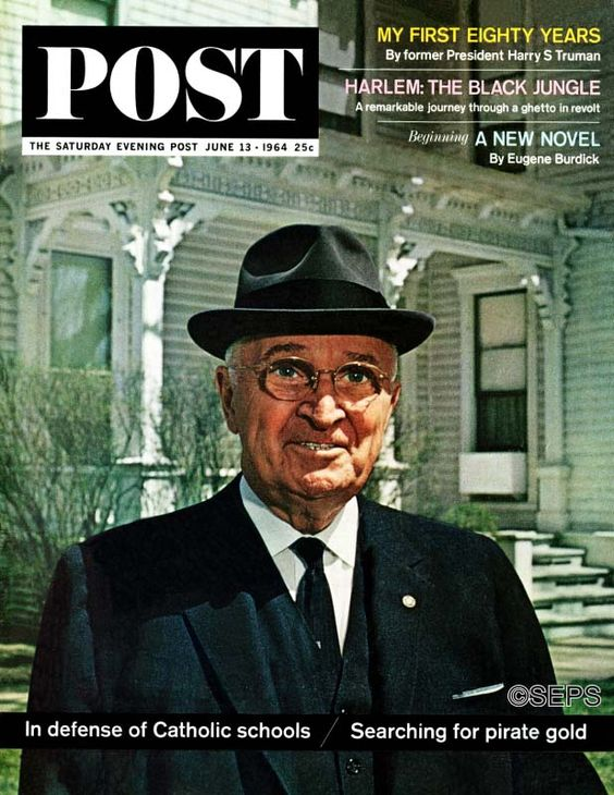 "This photograph of former President Truman was taken in front of his Independence, Missouri home. In an article that Truman wrote for the Post, the 80-year-old looked back over his controversial career and explained the principles that guided him in making the most difficult decisions of his Administration — including the ""firing"" of Douglas MacArthur."