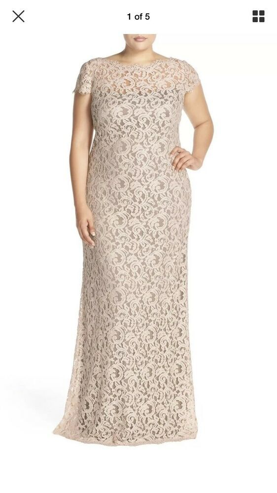 Tadashi Shoji Plus Size Mother Of The Bride Beautiful Lace Gown Size 22 Fashion Clothing Shoes Accessories Wo Lace Dress Styles Lace Gown Lace Gown Styles