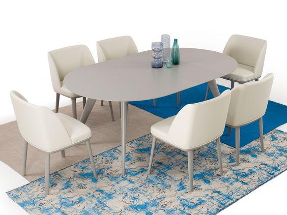 tavolo rotondo allungabile grigio chester - homeplaneur.com ... - Tavolo Rotondo Allungabile