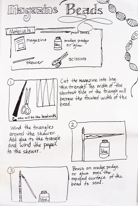 Magazine Beads Instructions