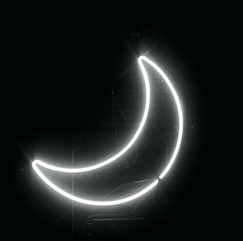 Moon Aesthetic Aestheticneonlights Neonlights Neon Light Moonneonlight Moon Neon Signs Neon Aesthetic White Moon