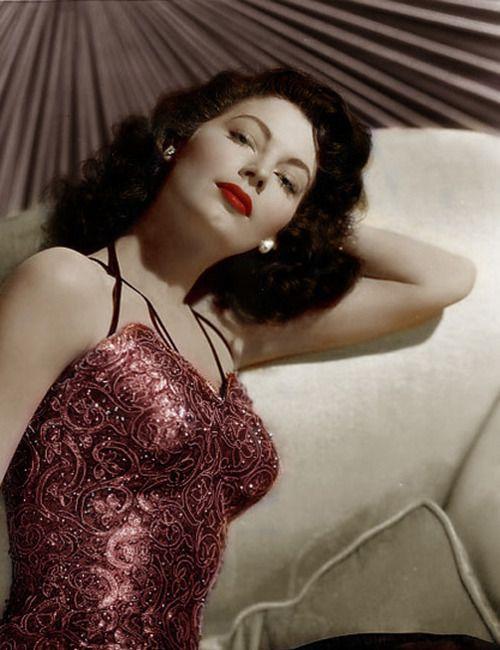 sultry ava gardner 1940s vintage glamour girls