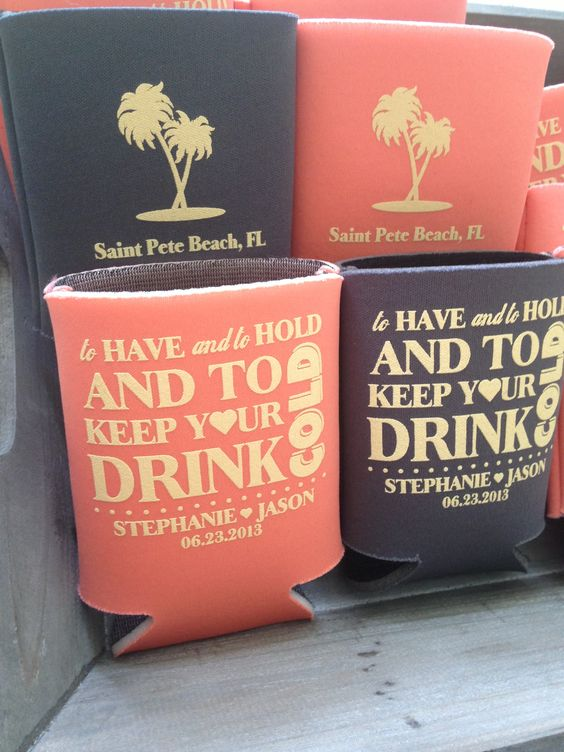Totally Wedding Koozies.Get That Metro Flair To Spice Up Your Wedding Day Totally Wedding