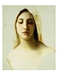 Study of a Woman's Head for Charity Impressão giclée por William Adolphe Bouguereau