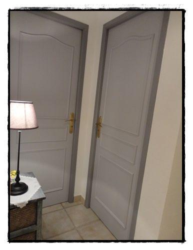 portes deux tons gris couloirs gris pinterest