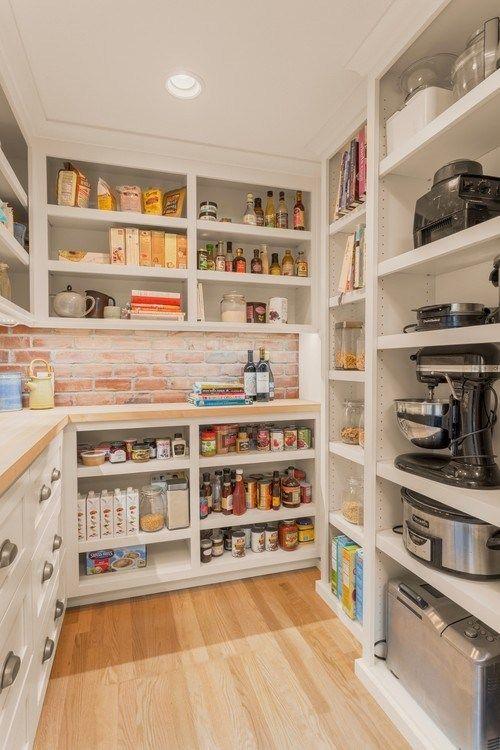 17 Kitchen Pantry Ideas Enlarging Your Space In 2020 Kitchen Pantry Design Pantry Design Kitchen Cabinet Storage