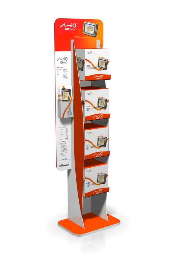 Point of Purchase Design | POP Design | Electrical POP | mio FSDU - designed by room one  www.roomone.com.au