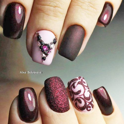 50 Newest Burgundy Nails Designs You Should Definitely Try In 2020 Burgundy Nail Designs Burgundy Nails Burgundy Nail Art