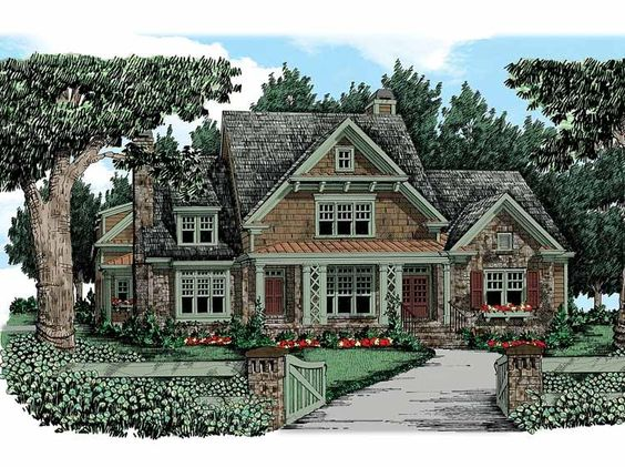 Eplans Craftsman House Plan Fairytale Facade 3878 Square Feet