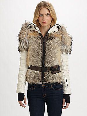 Moncler Wool/Mohair/Fur Jacket