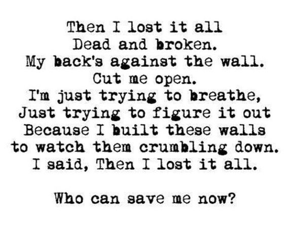 Lost It All -BVB seriously this song is so AMAZING!!! It's currently on repeat <3