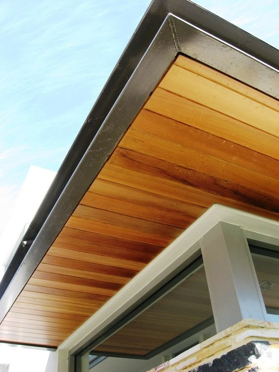 Under Eave Wood Panel I Like This Direction And Colour