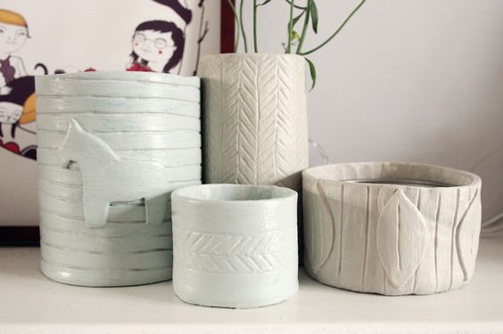 Diy pottery with air dry clay what katie does projects for Craft porcelain air dry clay