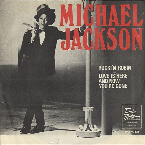 Michael Jackson – Rockin' Robin (single cover art)