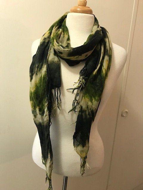Tie Dye Scarf Lovely Vintage Cotton Scarf Women S Scarf Etsy In 2020 Tie Dye Scarves Etsy Scarves Vintage Cotton