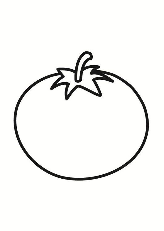 Dibujo Para Colorear Tomate Dibujos Para Colorear Tomates Dibujo Dibujos De Frutas