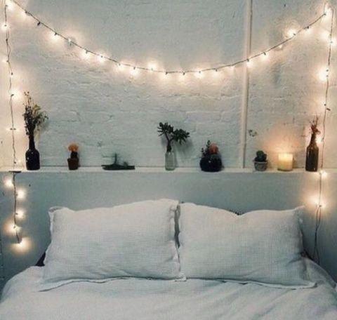 41++ Juvenil cuartos decorados con luces ideas