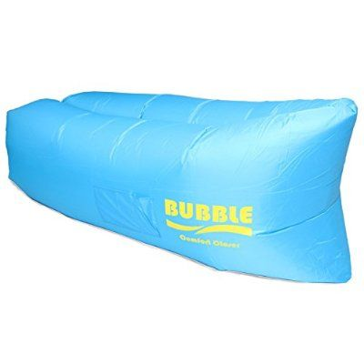 BUBBLE Inflatable Lounger Air Filled Balloon Furniture with Carry Bag. Inflates in Seconds. Hangout as Lounge Chair, Lamzac Bean Bag, Air Hammock, Sofa, Couch, Kaisr Original Air Bag (Blue)