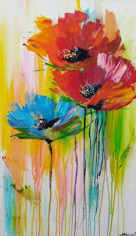 Die 95 Besten Bilder Zu Blumen In 2020 Blumen Malen Malerei
