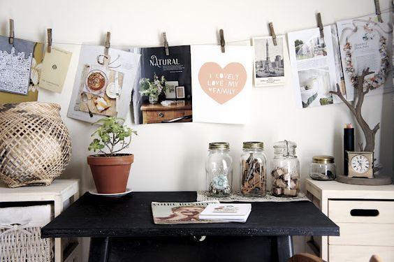 beautiful work space via: eyes on sparrow