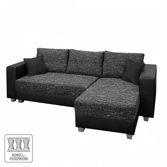 ecksofa dublin ii mit schlaffunktion beidseitig montierbar dublin. Black Bedroom Furniture Sets. Home Design Ideas